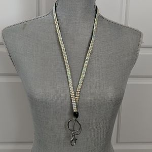 Jewelry - Crystal Badge Holder Necklace